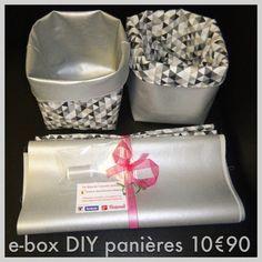 Box couture 2 panières DIY 10€99