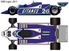 1980 Ligier JS11 formula 1 Ground Effects, Goalie Mask, Mclaren Mp4, Formula One, F1, Race Cars, Racing, Classic, Blue Cars