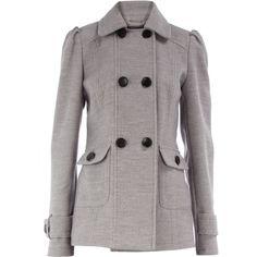 Karl Lagerfeld Women's Melange Boiled Wool Peacoat (5,445 MXN ...