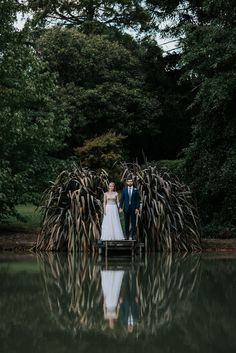 Stunning portrait over this venue's lake | Image by Damien Milan Photography