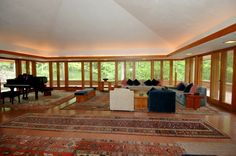William P. Boswell House. Usonian. Indian Hills, Cincinnati, Ohio. 1961. Frank Lloyd Wright