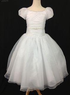 Christie Helene Communion Gown. BocelliBoutique.com Designer #ChristieHelene First #Communion Dress - style#P1214