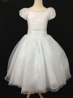 Christie Helene Communion Gown. BocelliBoutique.com Designer #ChristieHelene First #Communion Dress - style#P1214