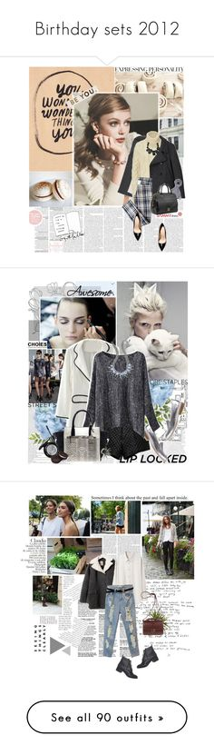 """""""Birthday sets 2012"""" by are-you-with-me ❤ liked on Polyvore featuring Vera Wang, Margaret Howell, Michael Kors, Zara, Marni, cable knit sweaters, plaid, statement necklaces, top handle bags and chunky sweaters"""