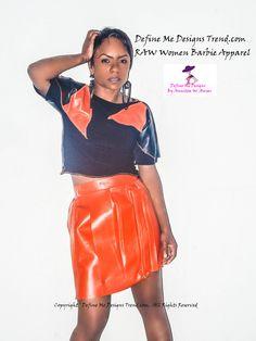 RAW Women Barbie Apparel 2014 Fashion Barbie Leather Skirt tie ...