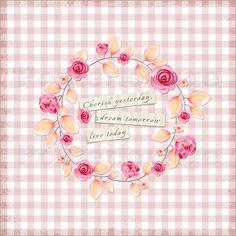Poster Weisheit- Florale Illustration & Typografie