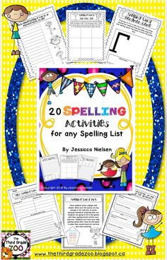 $This package includes 20 different games, activities, worksheets, and task cards to help your students practice their spelling words in a variety of different ways. There is something here that will meet the learning needs and multiple intelligences of every student in your classroom.