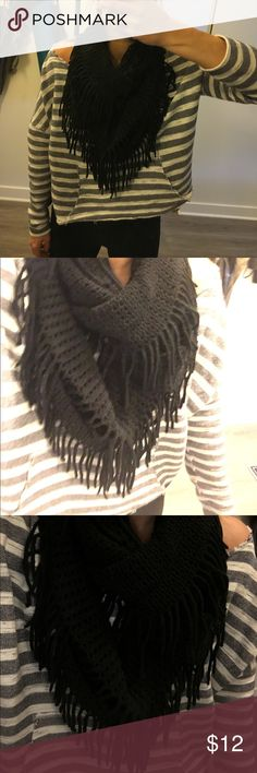 Black Infinity Scarf Black infinity scarf. Super cu and and full ! Nordstrom Accessories Scarves & Wraps