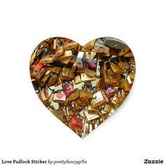 Shop Love Padlock Sticker created by prettyfancygifts. Wedding Gifts, Wedding Day, Valentines Day Weddings, Wedding Supplies, Stationery, Sticker, Invitations, Make It Yourself, Love