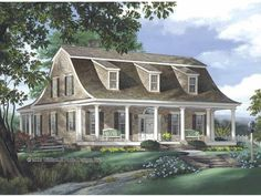 Dutch House Plan with 2941 Square Feet and 4 Bedrooms(s) from Dream Home Source   House Plan Code DHSW65582