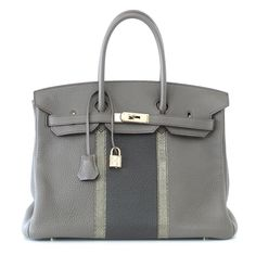 Hermes Birkin 35 Bag Limited Edition Club Etain Gray Permabrass rare