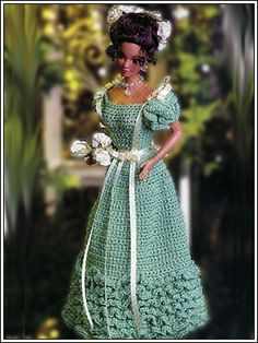 Barbie Crochet: 1883 -  Young Ladie's Evening Gown,, pattern