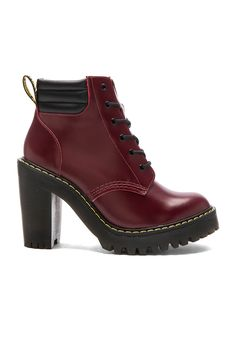 Dr. Martens Persephone 6-Eye Padded Collar Boot in Shiraz