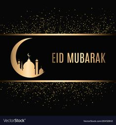 Eid mubarak design background vector image on VectorStock Eid Mubarak Wishes Images, Eid Mubarak Photo, Eid Mubarak Banner, Happy Eid Mubarak, Eid Background, Eid Mubarak Background, Eid Mubarak Stickers, Eid Stickers, Eid Al Adha Greetings