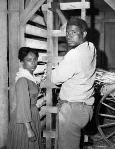 Ruby Dee and Ossie Davis on the set of a film