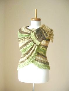 EXPRESS Shipping Mohair Capelet Shawl Brown and by crochetlab