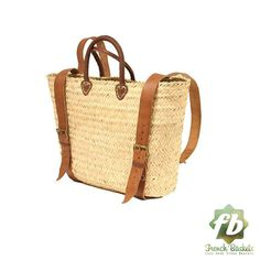 Straw baskets Backpack : French Basket Moroccan by Frenchbaskets