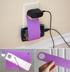 DIY Cardboard Cellphone Charging Holder