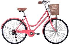 Gama Bikes Women's City Basic 26 Step Thru 6 Speed Shimano Hybrid Urban Commuter Road Bicycle, Wheel Size (26-Inch), Coral - http://www.bicyclestoredirect.com/gama-bikes-womens-city-basic-26-step-thru-6-speed-shimano-hybrid-urban-commuter-road-bicycle-wheel-size-26-inch-coral/