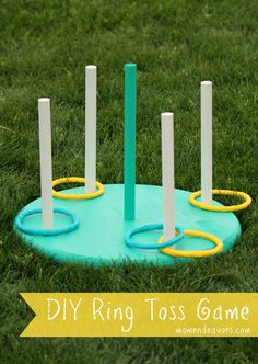 Fun Summertime Outdoor Activity Game! DIY Ring Toss Game by Mom Endeavors