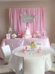 Princess baby shower party! See more party planning ideas at CatchMyParty.com!