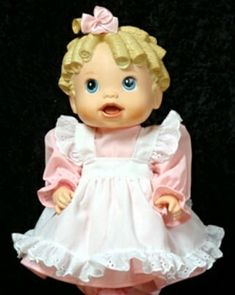 Doll clothes and doll accessories for most dolls sizes - Baby Alive Doll Clothes, Baby Alive Dolls, Cute Baby Dolls, Cute Babies, Lace Socks, Eyelet Dress, Dress Set, Clothing Websites