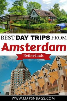 Looking for the best day trips from Amsterdam? Here you'll find a list of stunning cities and towns to visit in the Netherlands or in other countries. Backpacking Europe, Europe Travel Guide, Travel Guides, Day Trips From Amsterdam, Amsterdam Travel, Hotel Amsterdam, Visit Amsterdam, Europe Destinations, Amsterdam Netherlands