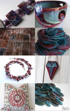 """""""Iolite and Garnet"""" curated by Pat Sylvester--Pinned with TreasuryPin.com"""