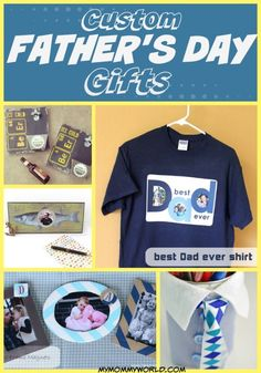 Custom Father's Day Gifts...need an idea for Father's Day? Check out these DIY crafts for the special Dad in your life!