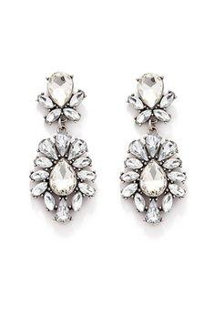 Rhinestone Petal Drop Earrings | Forever 21 - 1000162764