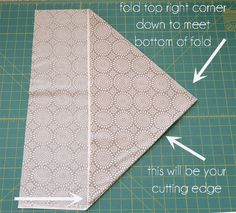 How to Make Bias Tape.  A quick (cool) way to cut bias strips