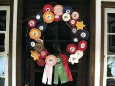 something to do with all my old horse show ribbons.