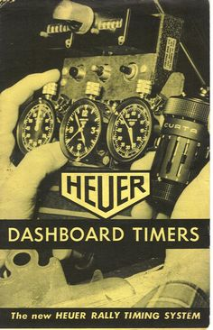 Tag Heuer dashboard timers.. old school