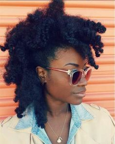 Her hair is on fleek....IJS!!! Gorgeous natural hair faux hawk.