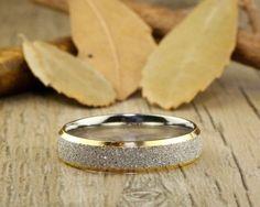 Handmade Customize Gold Promise Ring, Wedding Band, Women Ring, Couple Ring, Titanium Ring, Anniversary Ring