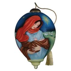 "Ne'Qwa Ornament ""Jesus and Mary"" -  Designed by noted artist Susan Winget"