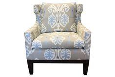Cecil Chair on OneKingsLane.com KIM SALMELA Love the fabric- http://www.kimsalmela.com/product-lines/kim-salmela-atelier/fabric-line-finishes/