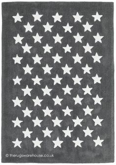 Dream Stars Grey Rug, a grey & cream 100% acrylic handmade children's rug http://www.therugswarehouse.co.uk/kids-rugs/dream-stars-grey-rug.html #rugs