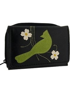 It makes great gift for those who loves birds.Made with toxic free vegan leather, this wallet has:- 1 photo ID pocket,- 5 card slots,- 1 zipper around coin purse at the back- 8 x 11 x 3cm / 3.25 x 4.25 x 1.25in