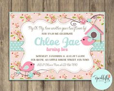 Little Bird Birthday Baby Shower Baptism por SparkleflyPaperie