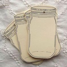 mason jar gift tag labels