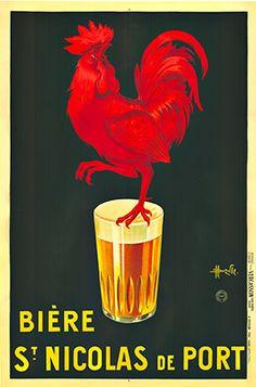 Biere St. Nicolas de Port, Marcellin Auzolle, rare original vintage poster.  stone lithograph.