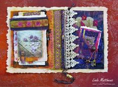 Fragments: Pockets for memories #fabriccollage #mixedmedia #stitchedfragments