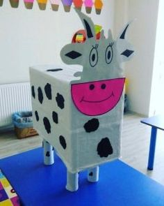 box cow craft | Crafts and Worksheets for Preschool,Toddler and Kindergarten