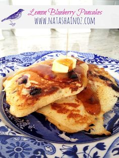Pioneer Woman's Lemon Blueberry Pancakes, Natasha in Oz, Pancakes, Breakfast Quiche, What's For Breakfast, Breakfast Recipes, Pancake Recipes, Breakfast Carbs, Breakfast Dishes, Lemon Blueberry Pancakes, Blueberry Breakfast, Buttermilk Pancakes