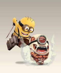 #AttackOnMinion hahahaha Love This! Attack on titan