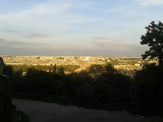 Widok na Rzym ze wzgórza Gianicolo