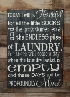 Large Wood Sign  Today I will be thankful for by dustinshelves, $35.00