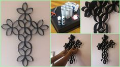 DIY 3D Paper Roll Flower Art4-fabartdiy