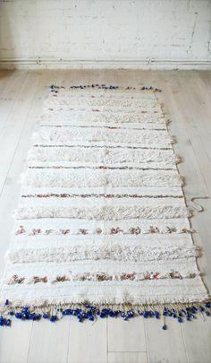 Handira - Vintage Moroccan Wedding Blanket - small.